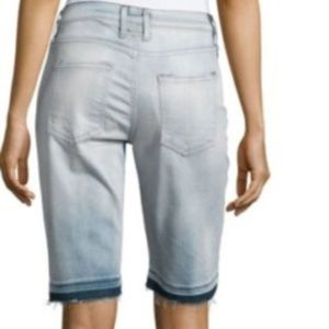 Currentt Elliott Fade Raw Hem Bermuda Shorts